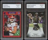 TREVOR LAWRENCE 2021 PRO SET + LEAF ALL-AMERICAN 1ST GRADED 10 ROOKIE CARD LOT