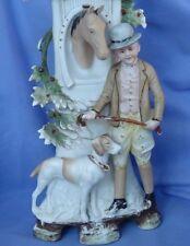 "German Shorthaired Pointer hunting dog man horse Victorian spill vase German 12"""