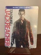 Jack Reacher Steelbook (Blu-ray/DVD/Digital) Factory Sealed RARE!