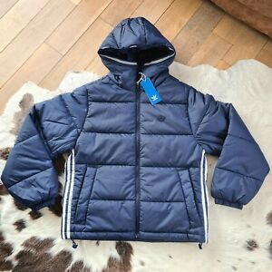 Adidas Padded Hooded Puffer Jacket Navy Small