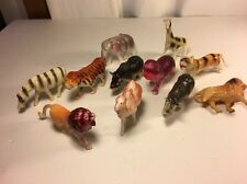 Antique Vintage Lot Of 11 Celluloid Toy Circus & Safari Animals Figures Toys