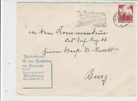 Germany 1936 Magdeburg Cancel Slogan Cancel Stamps Cover Ref 23325