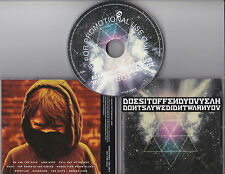 DOES IT OFFEND YOU YEAH DON'T SAY WE DIDN'T WARN YOU RARE 10 TRACK PROMO CD