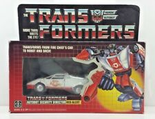 Red Alert G1 Transformer Complete, unused stickers, with Box and Bubble [RACT2]