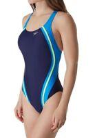 Speedo Starry Blue Powerflex Eco Splice One Piece Swimsuit Women's Size 4 47032