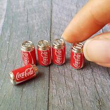 5x Mini COCA-COLA COKE Can Dollhouse Miniatures Supply Beverage Soda Drink Decor
