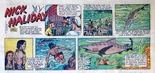 Nick Haliday by Keats Petree - scarce color Sunday comic page - January 24, 1954