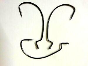 Eagle Claw L092 Wide Gap Worm Hook Platinum Black Sizes 2/0- 5/0.  Pk 10 or 25.