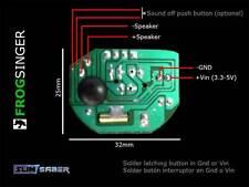 Frogsinger Soundboard: Lightsaber soundcard  Tarjeta sonido sable laser