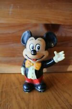 Mickey Mouse Rubber Piggy Bank Walt Disney Productions Made In Korea Vintage
