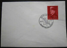 1941 WWII NAZI GERMANY PROPAGANDA HITLER BIRTHDAY SWASTIKA SWARD BERLIN POSTMARK