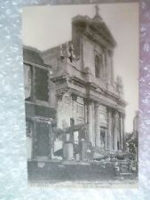 Postcard ARRAS- La Cathédrale Rue Teinturiers AFTER the Bombardment in WW1
