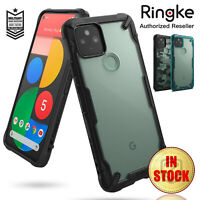 For Google Pixel 5 5G Case Genuine Ringke Fusion X Clear ShockProof Hard Cover