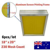 "AUS 6 pcs/lot 18"" x 20"" Aluminum Screen Printing Screens With 230 Mesh Count"