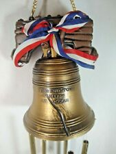 Liberty Plastic Bell Wind Brass Chimes Plastic Eagle Clapper Hong Kong 1976
