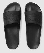 Gucci Men's Black Rubber Slide Sandals. Size US 12.5 / EU12. New & Authentic