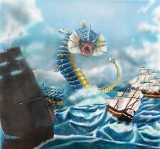 "Limited Edition Giclee ""The Leviathan"" Contemporary Pokemon Fan Art of Gyrados"