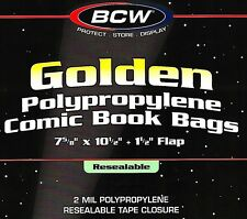 50 Golden Comic Resealable Bags and Boards Assembled BCW Archival Book Storage