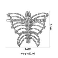 1pc Butterfly Rhinestone Elegant Barrettes Hairpins Bobby Pins for Ladies