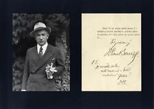 Edvard Benes CZECHOSLOVAK PRESIDENT autograph typed letter signed