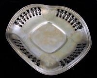 VINTAGE FRANK M WHITING STERLING SILVER ORNATE CENTER FRUIT DISH TRAY RUFFLED !