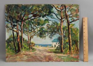 Original WILLIAM FRAHME Florida Impressionist Coastal Landscape Oil Painting