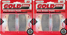 DUCATI 848 (Monobloc caliper) SINTERED FRONT BRAKE PADS *GOLDFREN (2xSets)