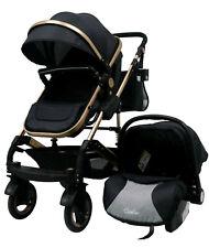 3in1 Alu Kinderwagen Kombi Kinderwagen Wanne Buggy Autositz Casiloo® Black Neu