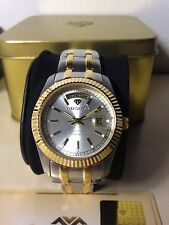 Originale Orologio Yves Camani Bicolor Mm 37 W.r.3 Atm Watch Nuovo