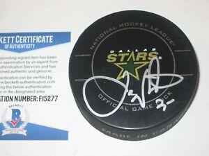 JOE NIEUWENDYK Signed Dalls STARS Official GAME Puck w/ Beckett COA