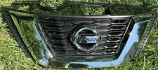 2017 2018 2019 Nissan Rogue Chrome Front Upper Bumper Grill Grille with Emblem