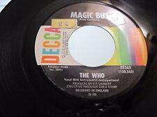 THE WHO * 45 * Magic Bus * 1968 #25 VG+ * USA ORIGINAL DECCA * Vinyl Plays great