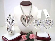 "Brighton ""PALACE HEART"" Necklace-Earring-Bracelet Set (MSR$178) NWT/Pouch"