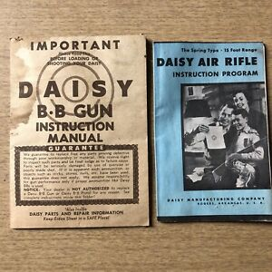 Daisy Air Rifle 1959 Instruction Manual & Instruction Program Rogers Arkansas