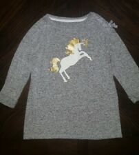 2 Girls shirts size 7/8.Unicorn and Christmas Elfie