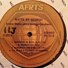 "RADIO SHOW: AFN 31-6 SCOTT JOPLIN ""TREEMONISHA' & ANDRE WATTS ""WATTS BY GEORGE"""