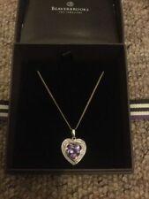 Love & Hearts Chain Amethyst Fine Necklaces & Pendants