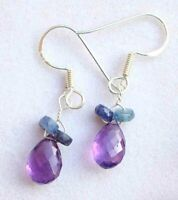 9.00 Ct natural Amethyst gemstone earrings solid 925 Sterling Silver Jewelry
