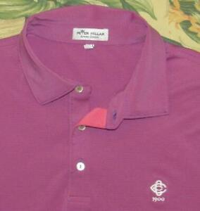 PETER MILLAR Summer Comfort Pink Polo Golf Shirt Country Club of Charleston xl