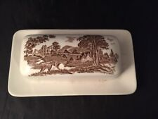 More details for studio j&g meakin england butter cheese dish country scenes brown transfer
