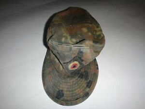 Allemand Camouflage Armée Casquette Chapeau Avec Label Wunsch & Rudolph 2006