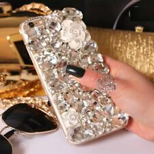 NEW DELUX COOL LUXURY BLING WHITE ROSE DIAMANTE CASE VARIOUS MOBILE PHONE 8 9 11