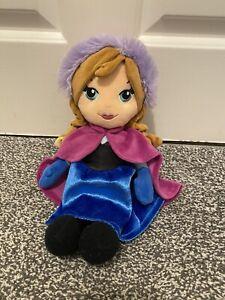 """Anna Disney Frozen Ragdoll 12"""" Soft Toy Plush Elsa Olaf Princess Plush Doll Toy"""