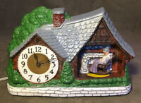 A Haddon Original HOME SWEET HOME Rocking Granny Model 30 Animated Motion Clock