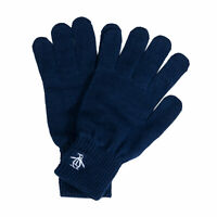Original Penguin Mens Basic Logo Glove in Navy - One Size