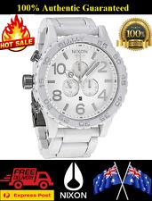New Nixon Watch 51-30 CHRONO All White Silver A083-1255 A0831255 Mens Wristwatch