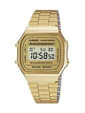 Casio A-168WG-9E / A168WG Batt.7anni A168 WG Illuminator Crono, Vintage Oro