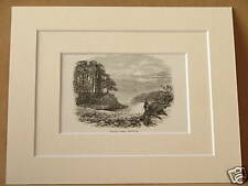 FRIAR'S CRAG KESWICK ANTIQUE MOUNTED ENGRAVING c1890