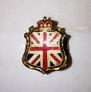 Vintage Queen Elizabeth II 1953 Coronation Enamel & Metal Badge Brooch