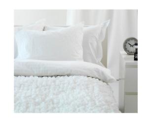 ❣️IKEA OFELIA White Throw Blanket Bedspread 130x170cm 601.315.93 New❣️